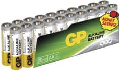 GP baterie (AA), alkalická, 20 ks, fólie