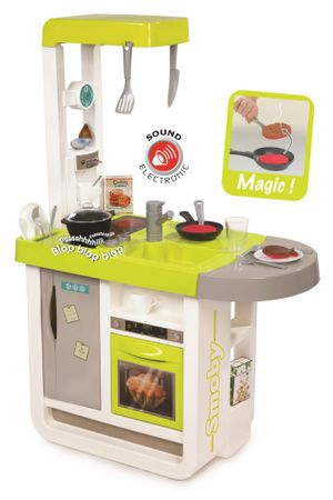 Smoby otroška kuhinja Bon Appetit Cherry, elektronska, zeleno-siva
