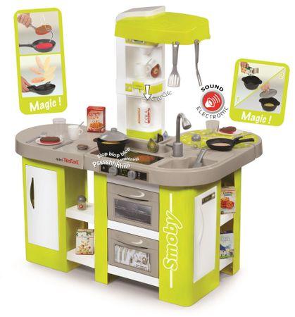 Smoby otroška kuhinja Tefal Studio XL, elektronska, zeleno-siva