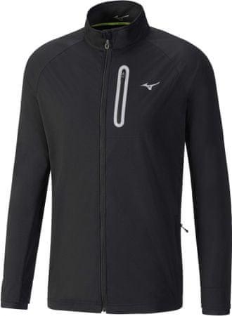 Mizuno moška tekaška jakna Alpha Softshell, črna, M