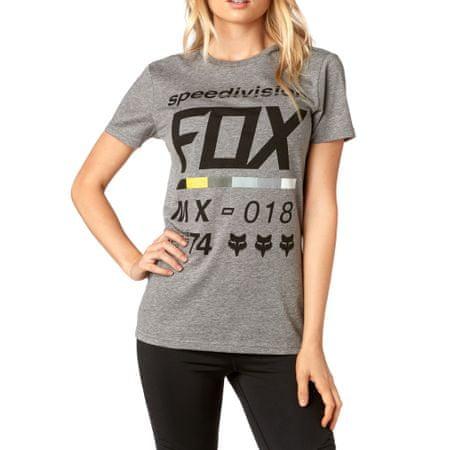 FOX dámské tričko Draftr ss crew M šedá