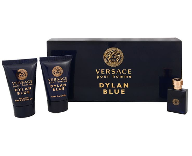 Versace Pour Homme Dylan Blue - EDT 5 ml + sprchový gel 25 ml + balzám po holení 25 ml