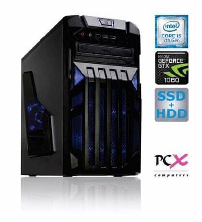 PCX namizni računalnik Exam Gaming 3.2 i5-7500/8GB/SSD240+HDD2TB/GTX1060-3GB/FreeDOS