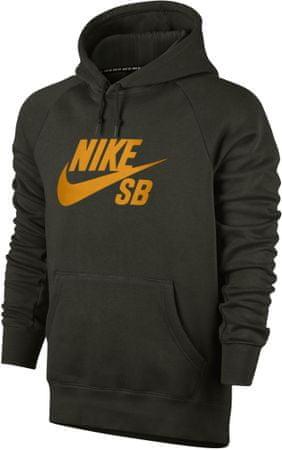 Nike moška jopa s kapuco SB Icon PO, črno-oranžna, S