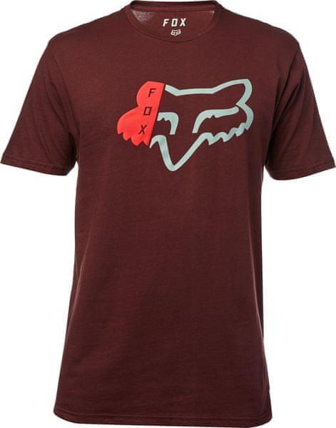 FOX pánské tričko Zerio ss premium M vínová