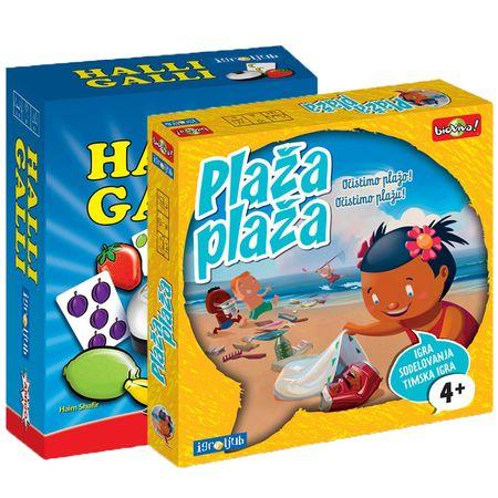 Igroljub set dveh družabnih iger Halli Galli in Plaža plaža