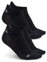 Craft Shaftless Zokni, 2 pár, Fekete