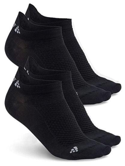 Craft Shaftless športne nogavice, črne, 2 para