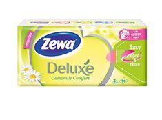 Zewa Deluxe Papír zsebkendő Camomile, 3 rétegű, 90 db