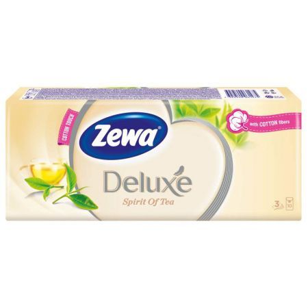 Zewa Deluxe Papír zsebkendő Spirit of tea, 3 rétegű, 10 x 10 db