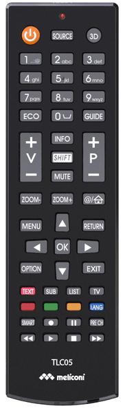Meliconi TLC05, univerzální ovladač TV Thomson