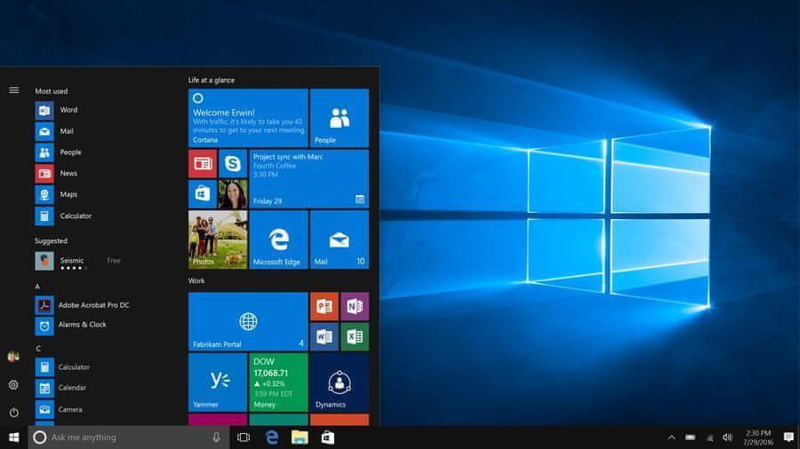 Windows 10 v češtině