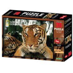 National Geographic sestavljanka 3D - Tiger, 500 kosov, 61x46 cm