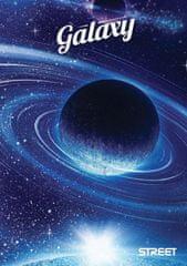 Street beležka Galaxy, A6, črtna, 40 listov