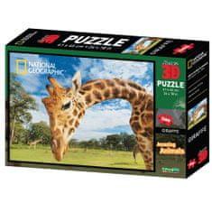 National Geographic sestavljanka 3D - Žirafa, 500 kosov, 61x46 cm