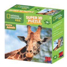 National Geographic sestavljanka 3D - Žirafa, 48 kosov, 31x23 cm
