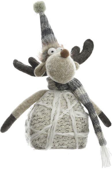 Kaemingk Vánoční figurka šedý sob 22 cm