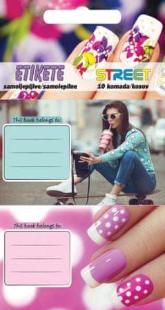 Street etiketa za zvezek Teen Girls, 10/1