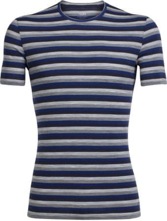 Icebreaker Mens Anatomica SS Crewe Largo/Midnight Navy/Stripe XL