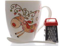Kaemingk skodelica z božičnim motivom Jelenček + darilo