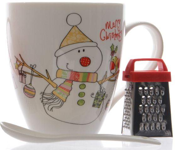 Kaemingk Hrnek s vánočním motivem sněuláka + dárek