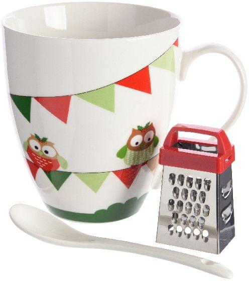 Kaemingk Hrnek s vánočním motivem sovy + dárek
