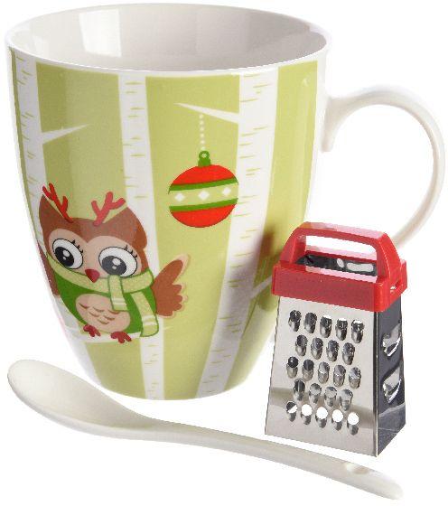 Kaemingk Hrnek s vánočním motivem sova + dárek