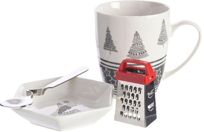 Kaemingk Hrnek s vánočním motivem šedý + dárek