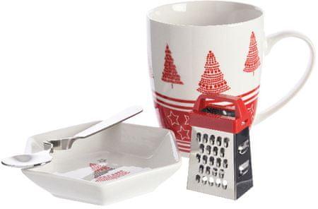 Kaemingk skodelica z božičnim motivom, rdeča