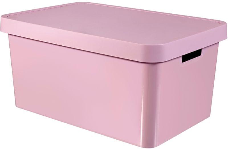 Curver Úložný box Infinity 45 l, růžová