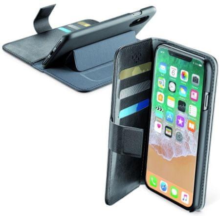 CellularLine preklopna torbica Book Agenda za iPhone X, črna