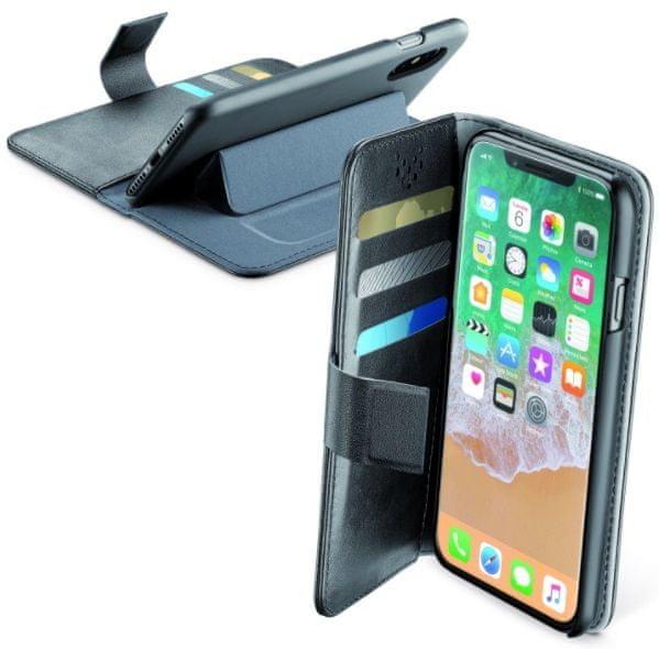 CellularLine pouzdro typu kniha Book Agenda (Apple iPhone X), černá