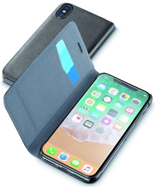 CellularLine pouzdro typu kniha Book Essential (Apple iPhone X), černá