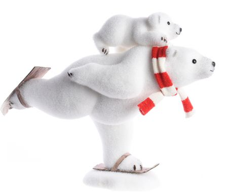 Kaemingk Karácsonyi dísz jegesmedve, 38 cm