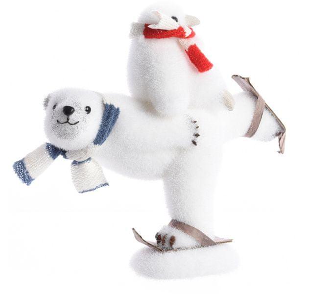 Kaemingk Vánoční ozdoba lední medvěd 27 cm