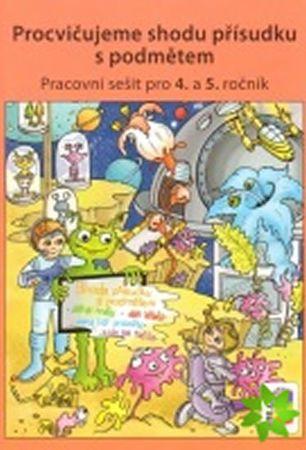 Procvičujeme shodu přísudku s podmětem - Český jazyk pro 4. ročník ZŠ - duhová řada