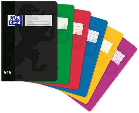 Sešit bezdřevý Oxford 545 - A5 čtverečkovaný, 60 listů, mix barev