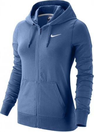 Nike ženska jopa s kapuco NSW Hoodie FZ Jersy, modra, L