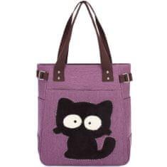 Kaukko torba Dizzy Cat, vijolična