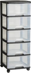 CURVER komoda na kółkach, 5 szuflad x 20 l