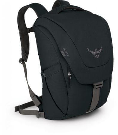 Osprey Flap Jack Pack nahrbtnik, črn