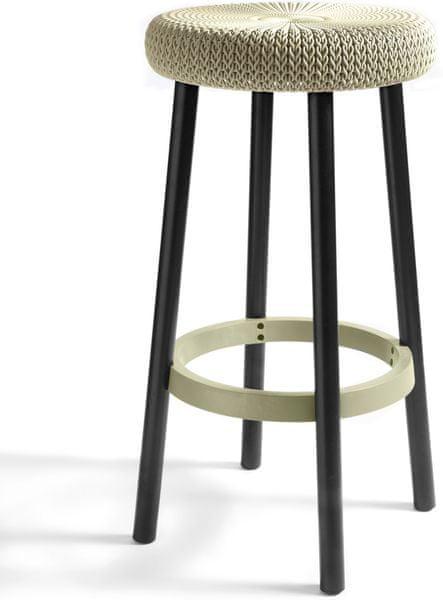 Curver Knit Barová stolička, krémová