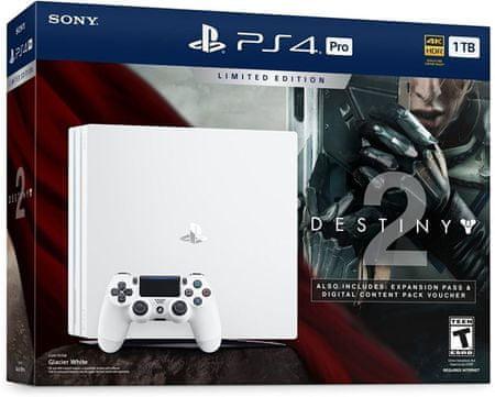 Sony PlayStation 4 Pro - 1TB, bílá + Destiny 2