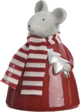 Kaemingk figurka Mysz z choinką szara, 14 cm