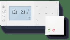 DANFOSS TPOne-B-RF+RX1-S, 087N7854, inteligentní prost. termostat s bezdr. přijímačem, bílá