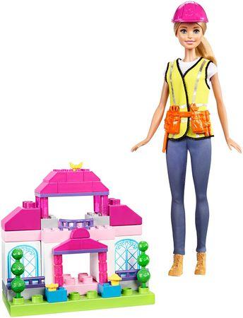 Mattel Barbie budowniczy + klocki