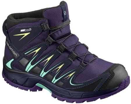 Salomon buty trekkingowe Xa Pro 3D Mid Cswp J Acai/Evening Blue/Biscay Green 33