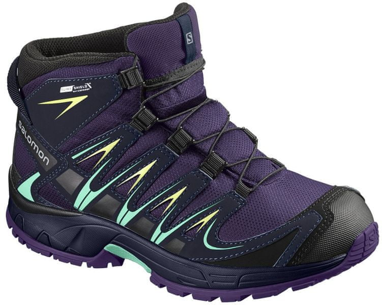 Salomon Xa Pro 3D Mid Cswp J Acai/Evening Blue/Biscay Green 37