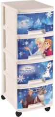 Curver Komoda se šuplíky Frozen, 4x 10 l