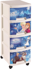 CURVER komoda na kółkach Frozen, 4 x 10 l